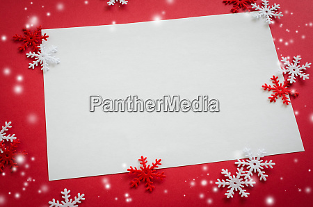 christmas empty card with decorative snowflakes