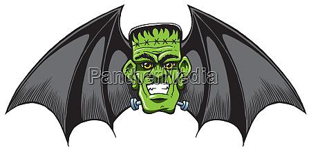 franked bat halloween face