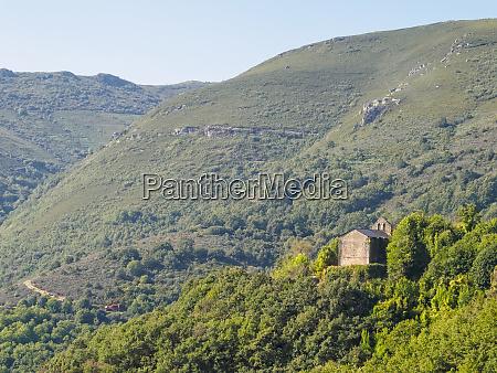 little church on the hillside