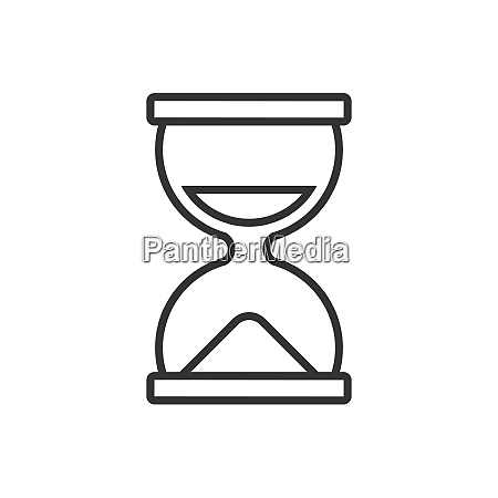 hourglass line icon on a white