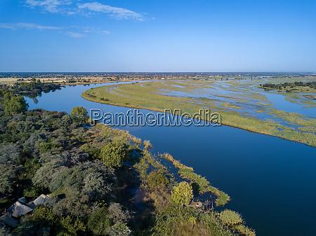 okavango delta river in north namibia