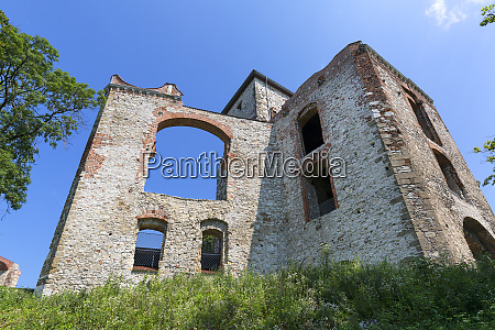 ruins of 15th century medieval castle