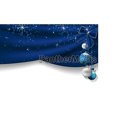 christmas background with blue curtains