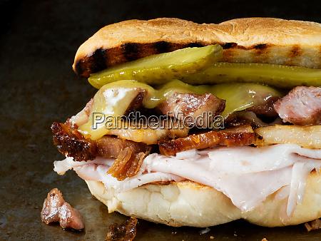 rustic cuban cubano sandwich