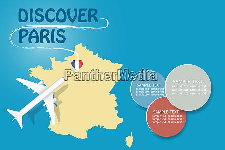 discover paris blank template vector