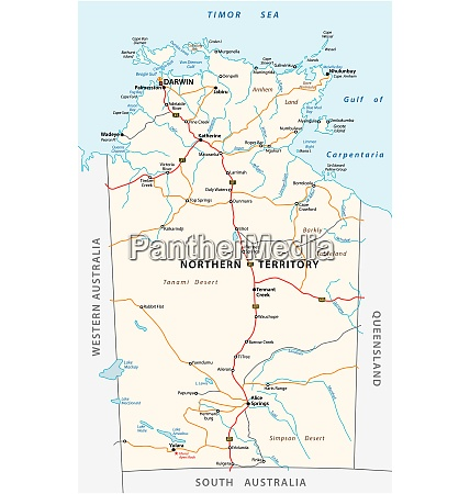 vector road map of the northern