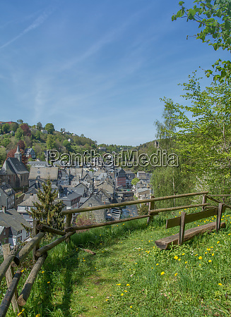 idyllic place with view to village