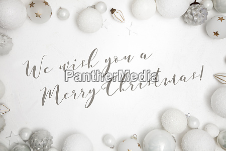 christmas white wood background with decoration