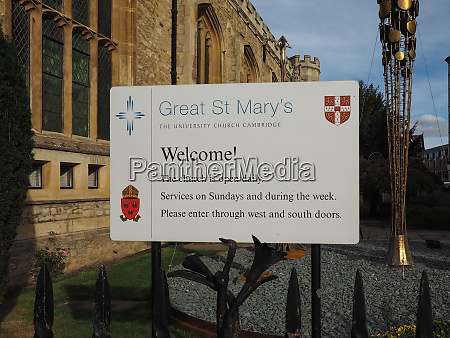 great st mary church in cambridge