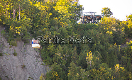 cable cars crossing montmorency falls