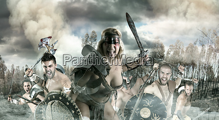 group of warriors or gladiators