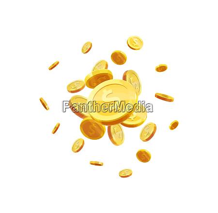 coins golden money jackpot luck