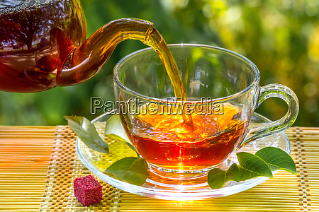 black tea beautifully composed in the