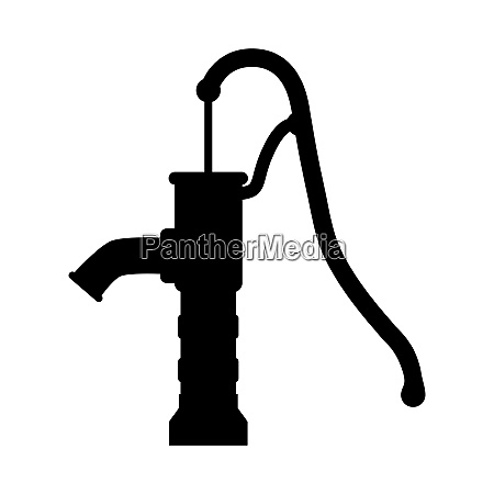 silhouette water pump design isolated on