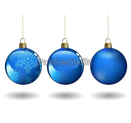 blue christmas ball set