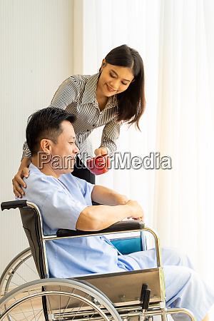 elderly patient and his relative