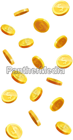 flying coins golden money jackpot