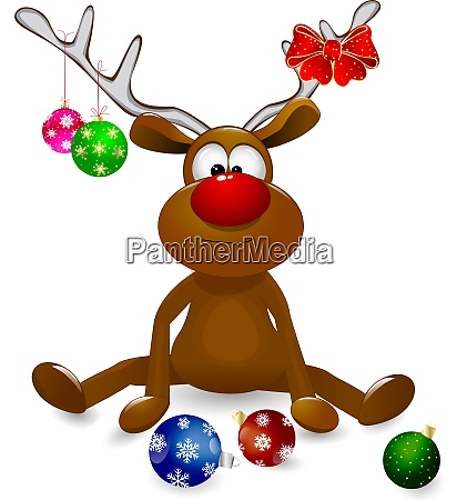 deer and christmas tree decorations