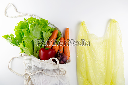 zero waste concept vegetables in a