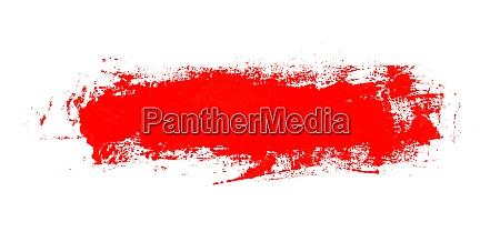 dirty red brush stroke banner