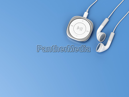 music player and wired earphones