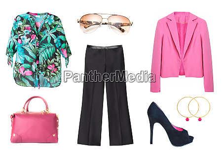 womens summer fashion collage set of