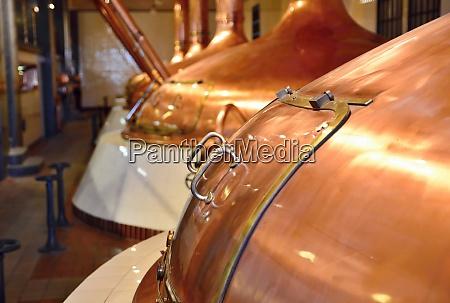 beer copper fermentation vats