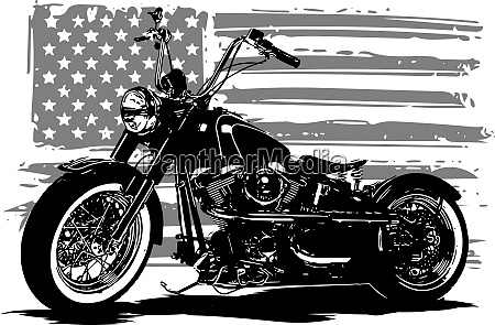 hand drawn and inked vintage american