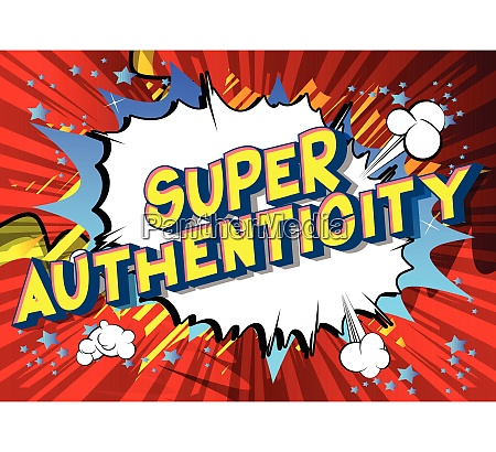 super authenticity comic book style