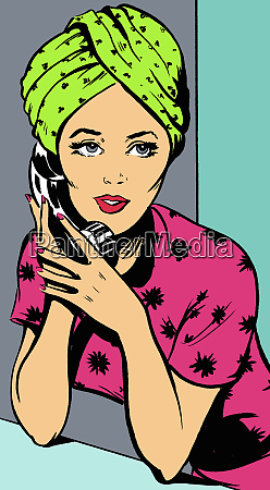 woman with hair wrapped in towel