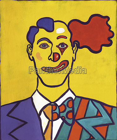 portrait of a man half businessman