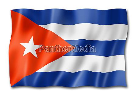 cuban flag isolated on white