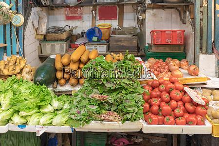 vegetables street stall