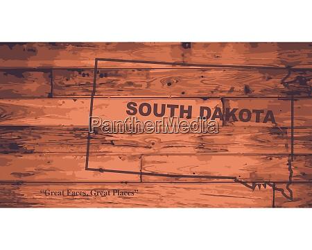 south dakota map brand