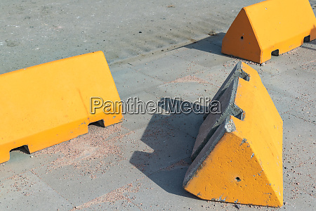 concrete anti terrorism barriers on a