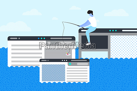 a man trying to catch webpage