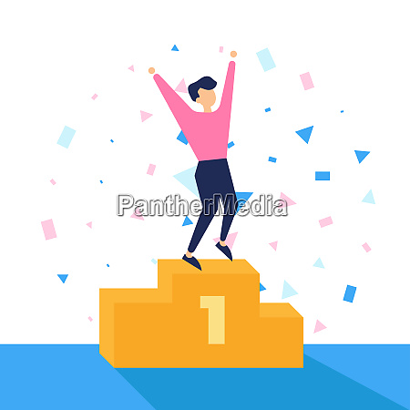 winner number one vector illustration