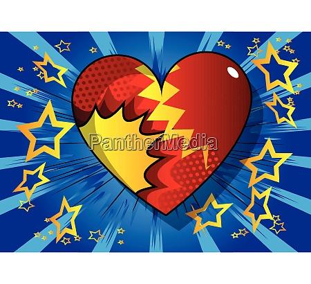 comic book style heart