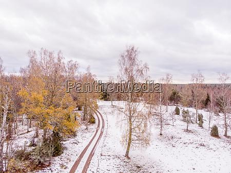 vinter landscape in the north of