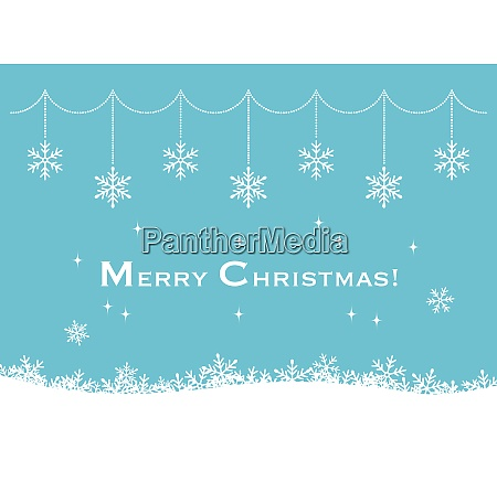 christmas greeting card with snowflake ornaments