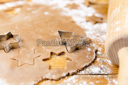 christmas gingerbread cookies gingerbread dough baking