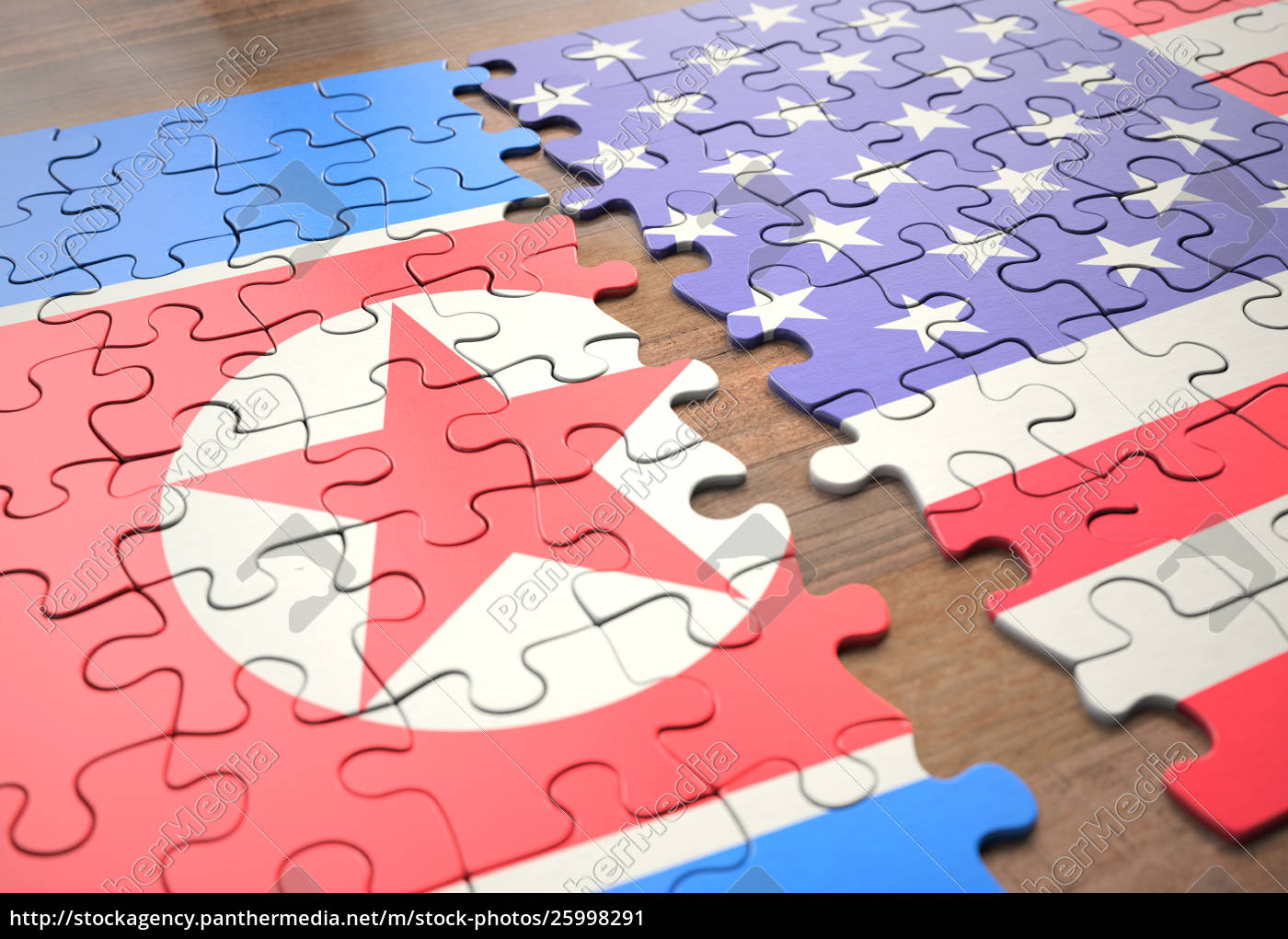 Royalty Free Image 25998291 Puzzle North Korea And United States