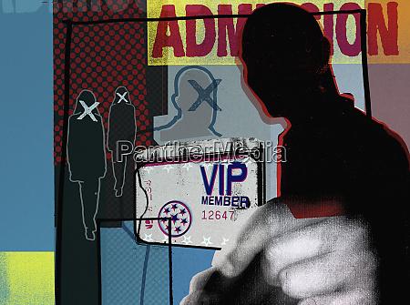 man holding vip pass