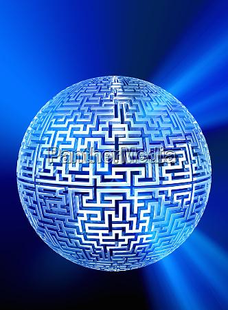 shiny globe maze