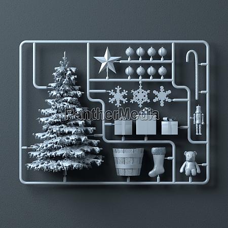 plastic assembly kit for christmas tree