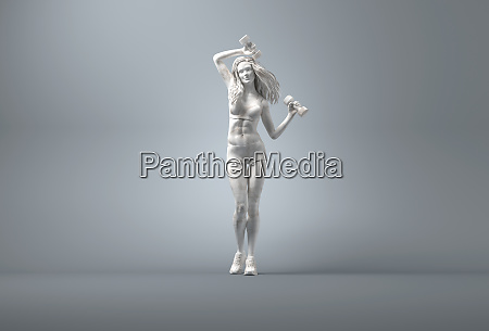 marble statue of young woman weight