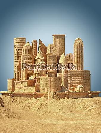 city sandcastle