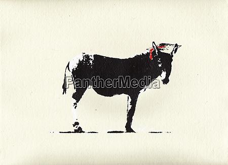 smart ass donkey wearing mortar board
