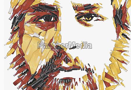 close up of man with beard