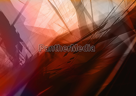 abstract image of red and black